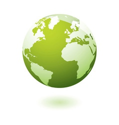 Green icon earth gel vector image vector image