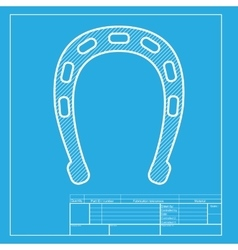 Horseshoe sign White section of icon vector image vector image