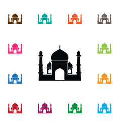 Isolated religious icon muslim element can vector