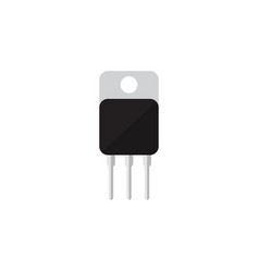 isolated transistor flat icon receiver vector image