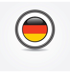 Label germany flag in rubber stamp vector