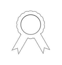 label sign ribbons black dotted icon on vector image