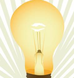 light bulb illustration vector image vector image