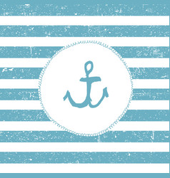 Marine background blue lines pattern nautical vector