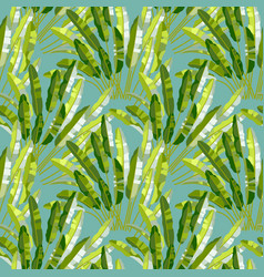 Seamless pattern with tropic plants vector