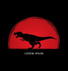 T rex dinosaur graphic vector