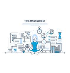 Time management workflow organization vector