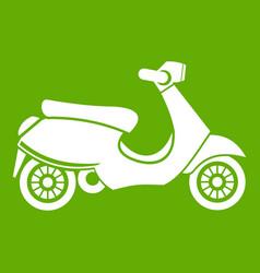 Vespa scooter icon green vector
