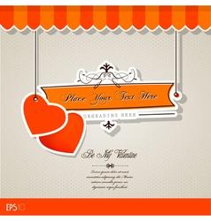 vintage valentines vector image vector image