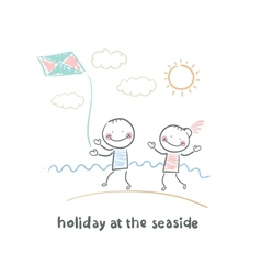 Weekend of the sea vector image vector image