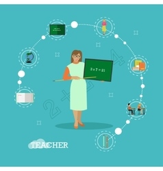 School teacher with chalkboard vector