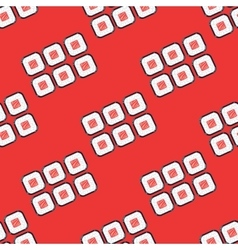Sushi sets seamless pattern red vector image