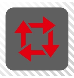 Recycle rounded square button vector