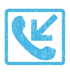 Incoming call icon rubber stamp vector