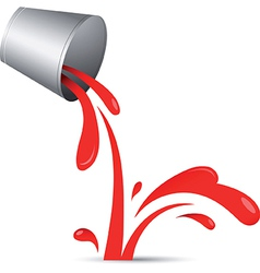 Paint and Paint can vector image