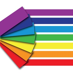 rainbow book vector image