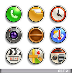 Round button icons-set 2 vector