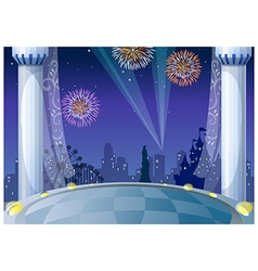 Castle city background vector