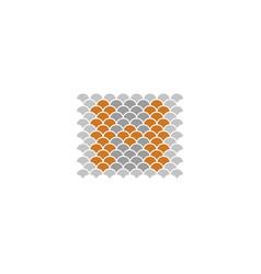 floral alphabet h design logo icon design vector image