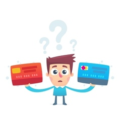 The problem of choosing a credit card vector
