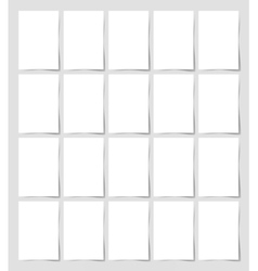 20 pieces blank a4 format sheet of white paper vector