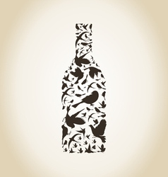 Wine a bird vector image