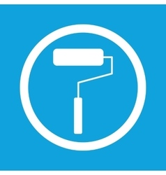 Paint roller sign icon vector