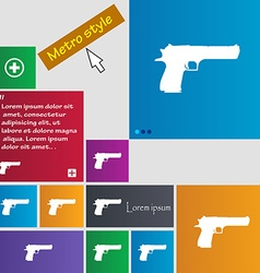 Gun icon sign buttons modern interface website vector