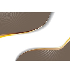 Cappuccino advertisement with golden lines vector
