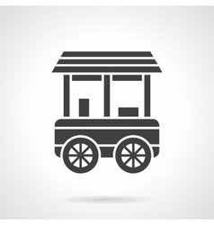 Shop trailer glyph style icon vector