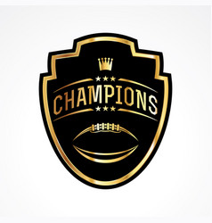 American football champions badge emblem vector