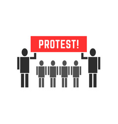 black protesters people symbol vector image