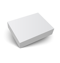 blank packaging box with shadow vector image vector image