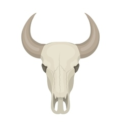 Bull skull icon in cartoon style isolated on white vector