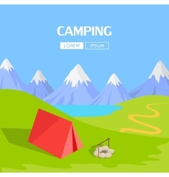 Camping Concept Item vector image vector image