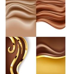 creamy chocolate vector image