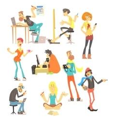Creative people set vector