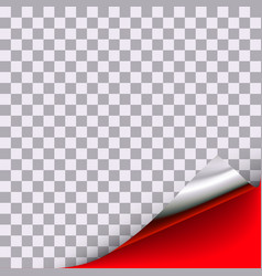 Curled corner with transparent front area vector