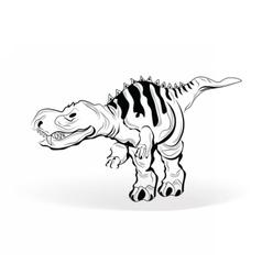 Dinosaur sketch vector image vector image