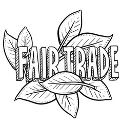 Fair trade vector image vector image