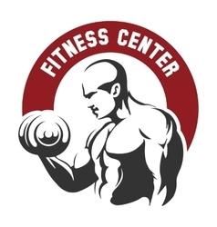 Fitness center or gym emblem vector