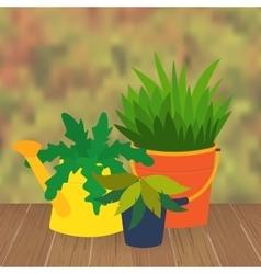 Garden flower bed vector