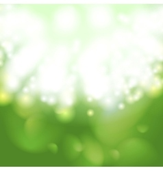 Green glow bokeh background vector image