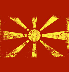 grunge flag series - macedonia vector image vector image