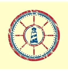 Lighthouse symbol grunge vector