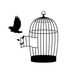 monochrome bird silhouette concept vector image vector image