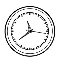 Monochrome contour with wall clock vector