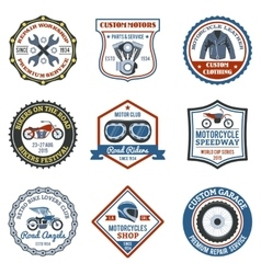 Motorcycle Label Colored vector image