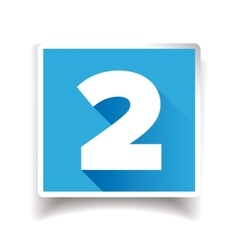 Number two label or number icon vector image