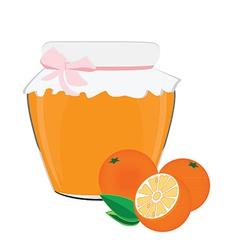 Orange jam vector